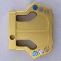 Gold CNC Milled Mallet Putter Head - RH