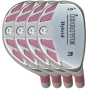 Built iDrive Pink Hybrid 4-Club Steel Set