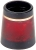 "Wood Ferrule 1/2"", Gold/Red Ring, Pack of 10"