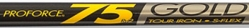 UST ProForce RV2-75 Gold Iron Shaft 0.370""