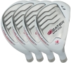 Built Heater White Hybrid 4-Club Steel Set