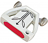 T-7 Twin Engine White Mallet Putter Head