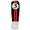 Sahara Retro Golf Headcover Black/Red/White - Fairway Wood