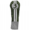Sahara Retro Golf Headcover Green/Yellow/White - Fairway Wood