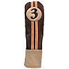 Sahara Retro Golf Headcover Brown/Beige - Fairway Wood