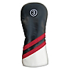 Synthetic Headcover Black/Red/White - Fairway Wood