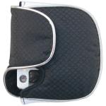 Oversize Mallet Putter Head Cover White/Black - Left Hand