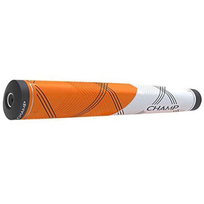 Champ C1 Putter Golf Grip - Small Orange/White