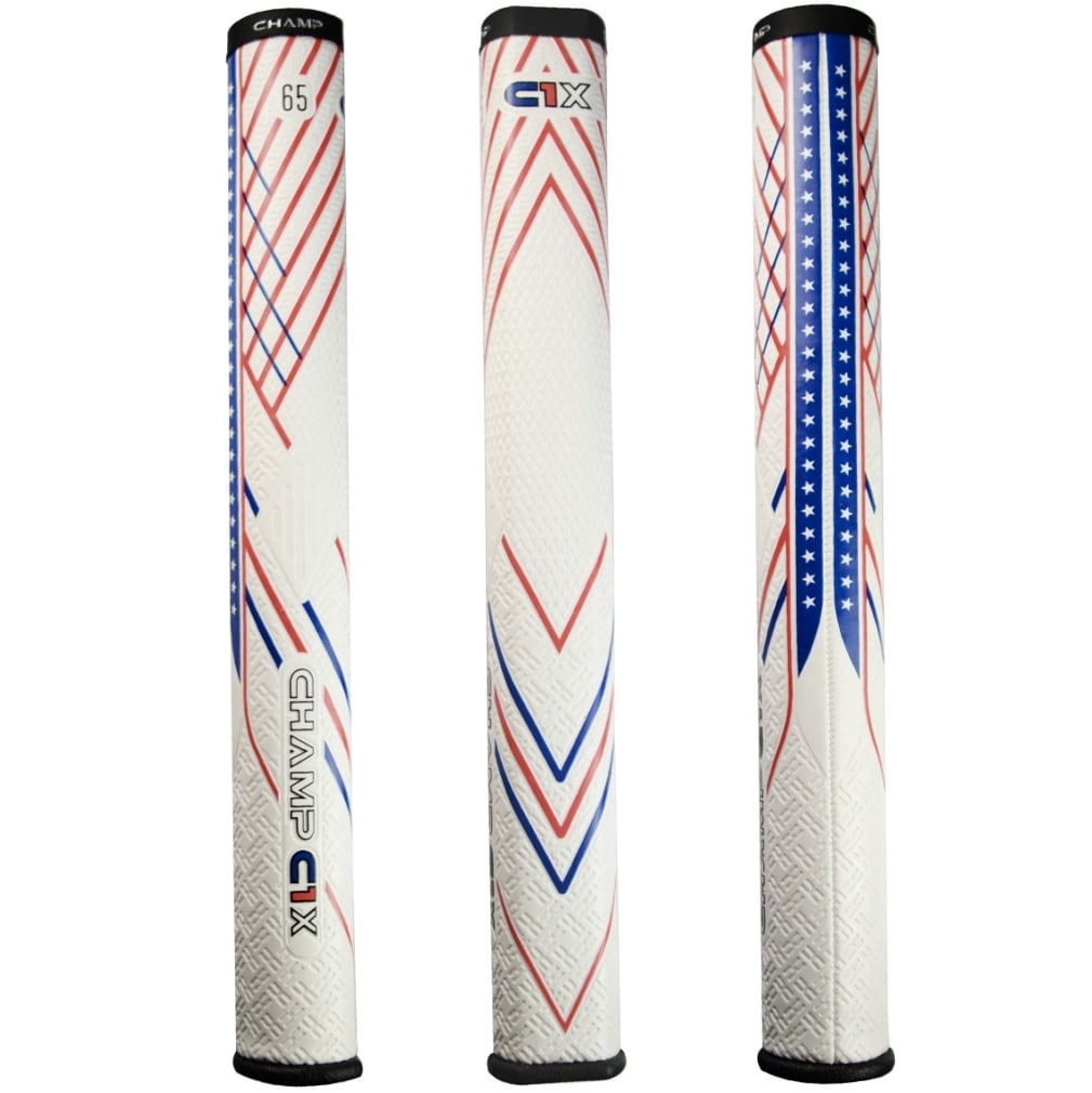 Champ C1X Putter Golf Grip - Midsize Red/White/Blue