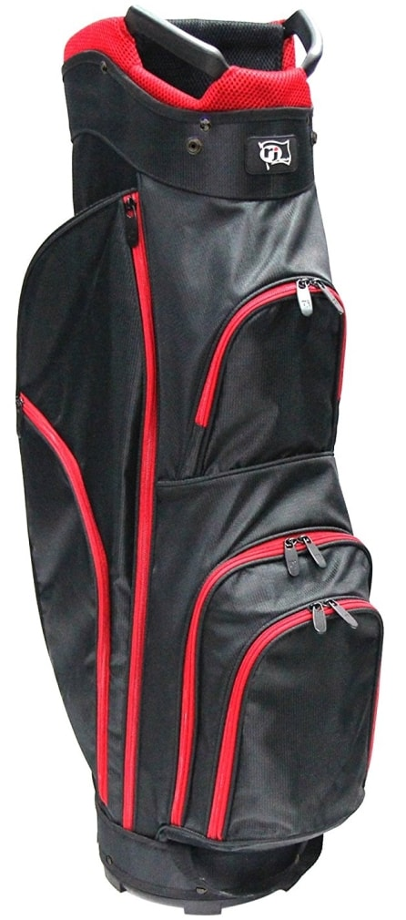 RJ Sports CC-490 Cart Bag - Black/Red