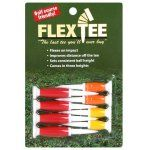 FlexTee Flexible Golf Tees Florescent Red/Orange/Yellow - Pack of 8