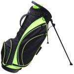 RJ Sports SB-495 Stand Bag - Black/Lime