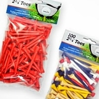 Intech 2 3/4-Inch Golf Tees 100-Pack - Multi-Color