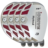 Built iDrive Hybrid 4-Club Graphite Set